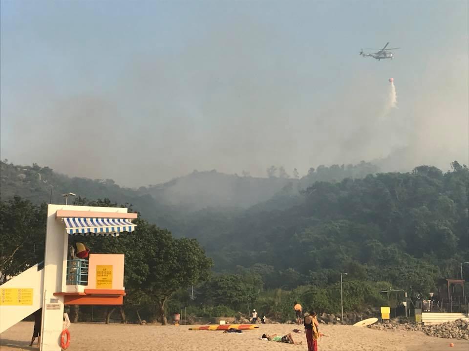 Hung Shing Ye beach incendie