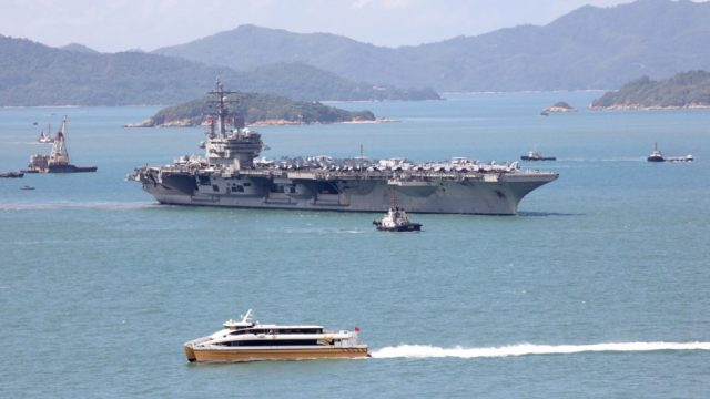 USS Ronald Reagan Hong Kong