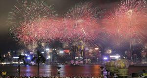 feu artifice hong kong 2017