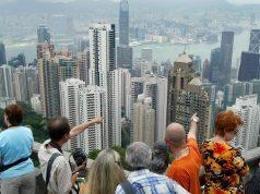 Touristes au peak