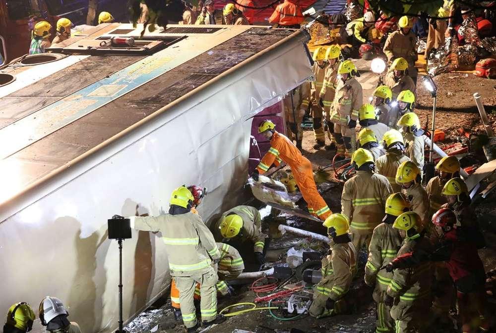 morts accidents bus hong kong