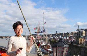 Carrie Lam vin bordeaux