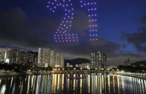 drones lumineux Sha Tin Hong Kong