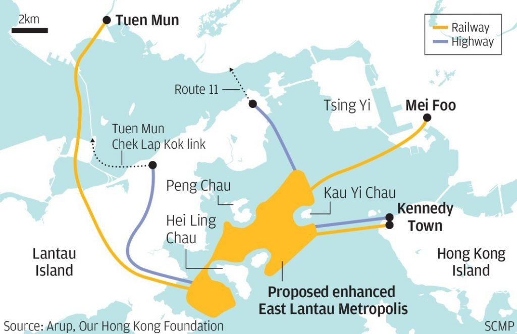 projet ile artificielle Hong Kong