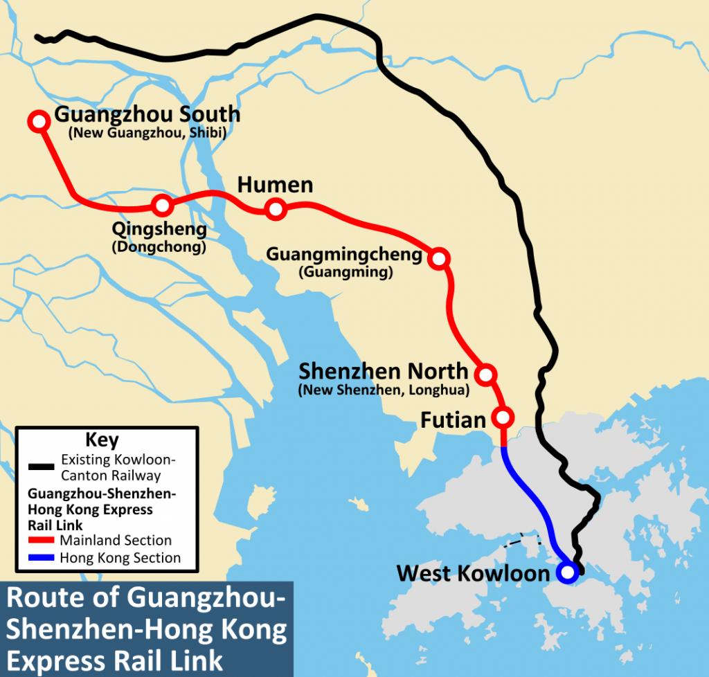 Carte TGV Hong Kong Shenzhen Guangzhou