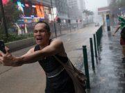 Selfie Typhon Hong Kong
