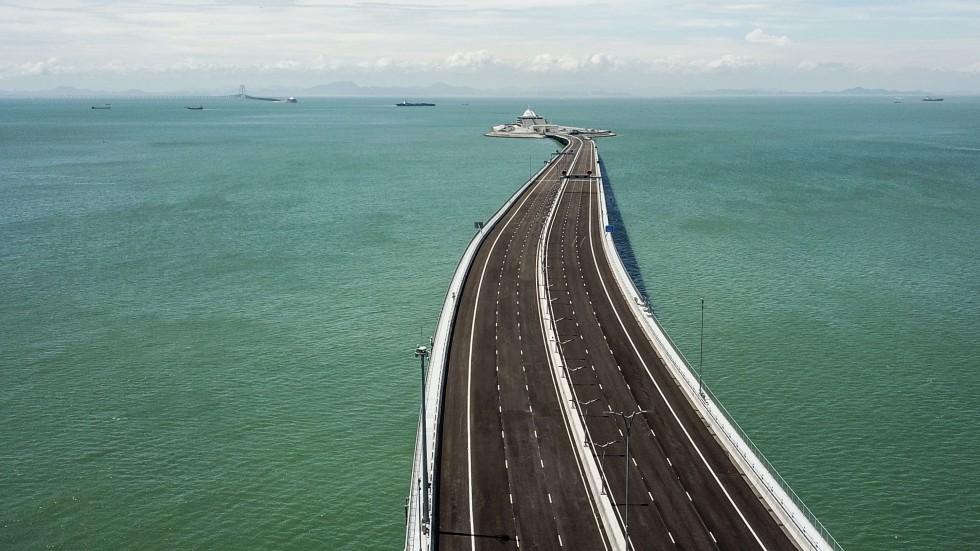 Partie hongkongaise du pont Hong Kong Macao