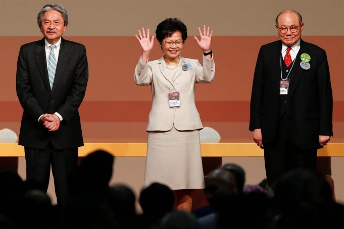 Carrie Lam John Tsang Woo Kwok hing