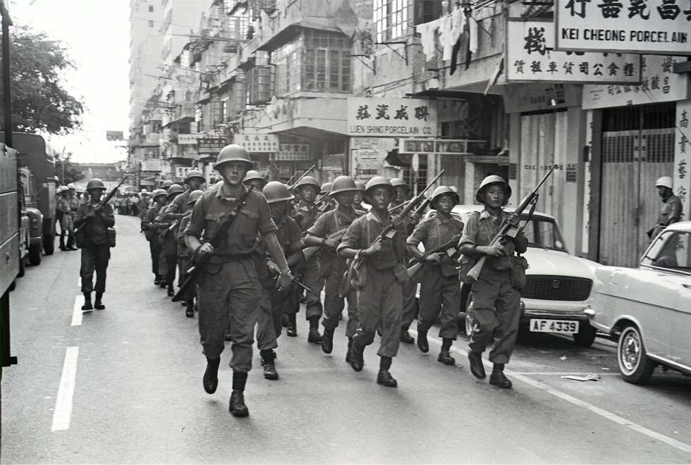 Soldats Kowloon Mai 1967