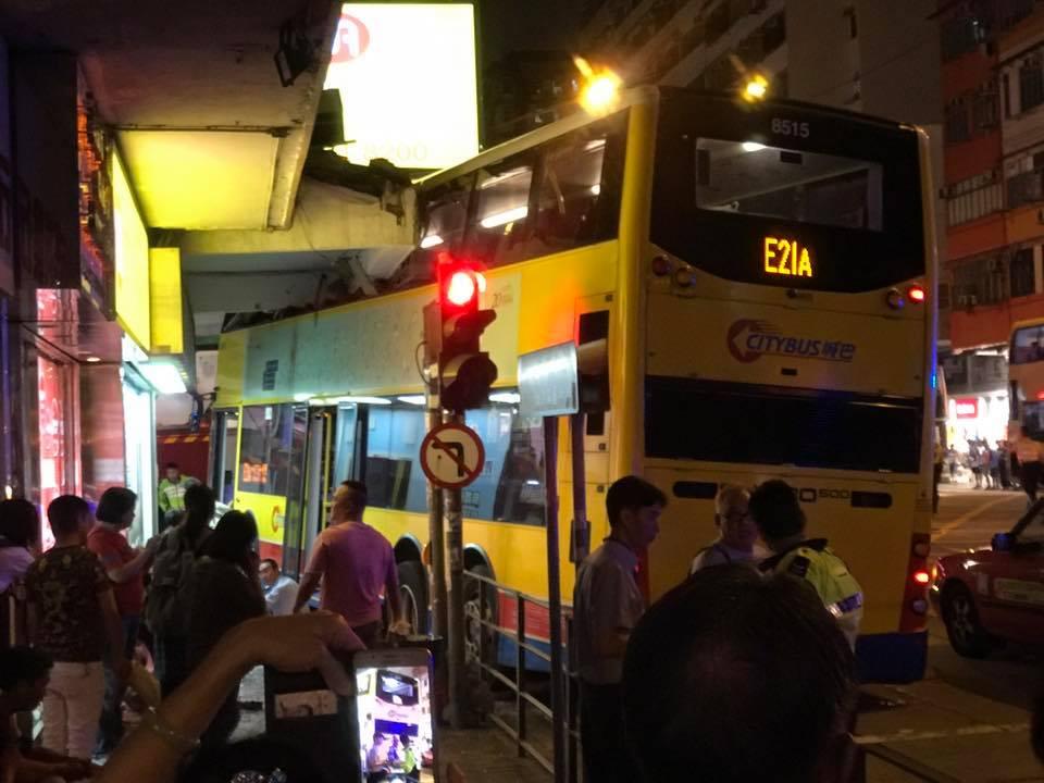 accident bus E21A Sham shui po