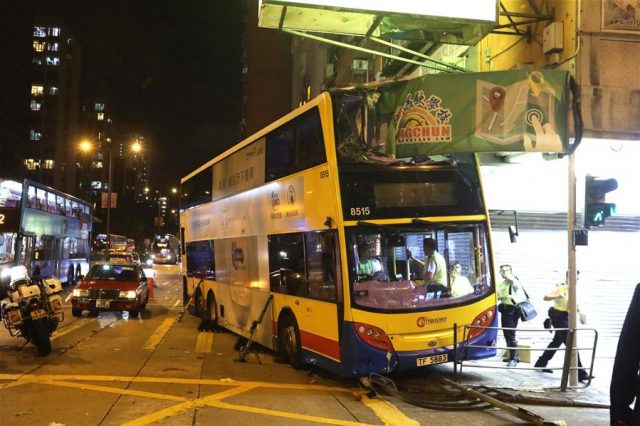 accident bus Sham shui po