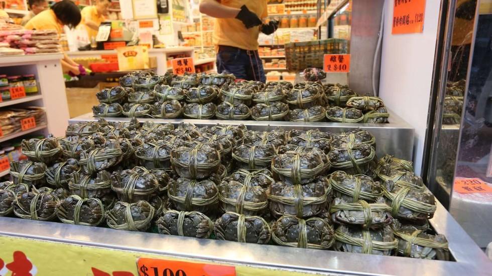Crabes poilus Hong Kong