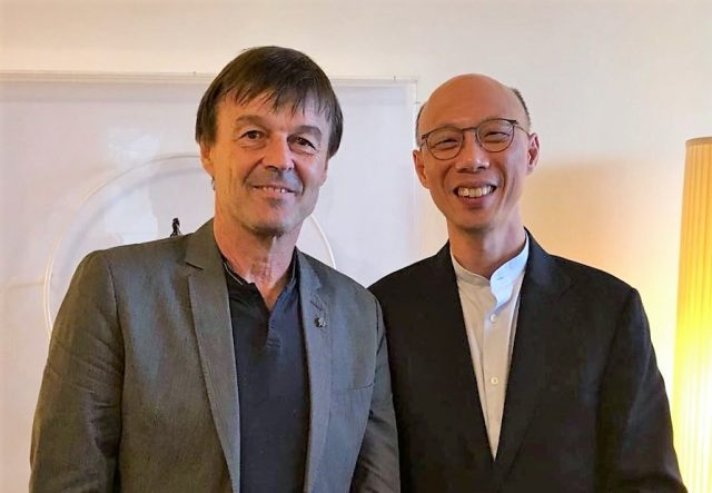 Nicolas Hulot et KS Wong