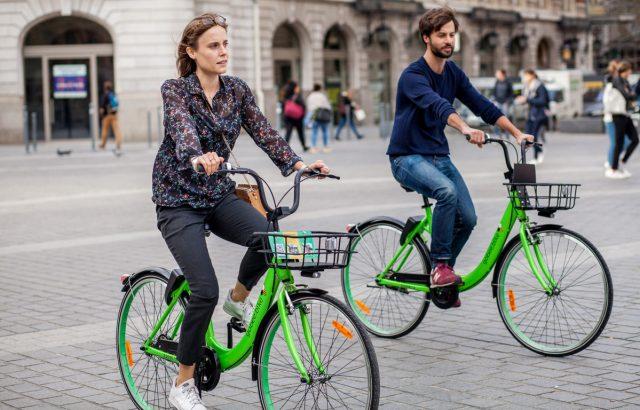 Les vélos verts de Gobee.bike arrivent à Lille