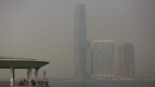 Pollution air Hong Kong