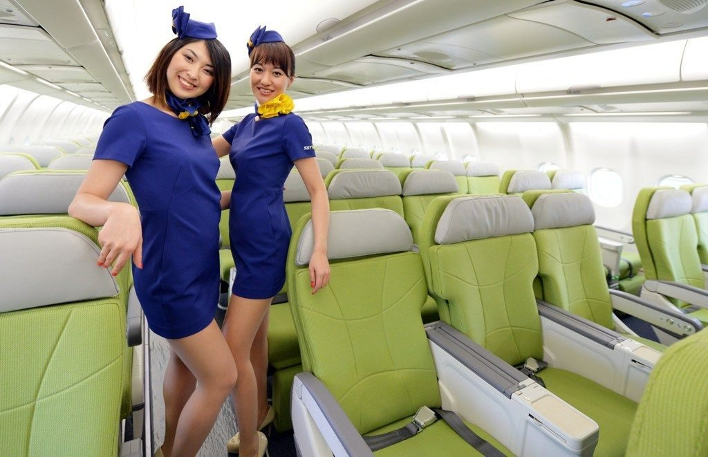Skymark Airlines hotesses