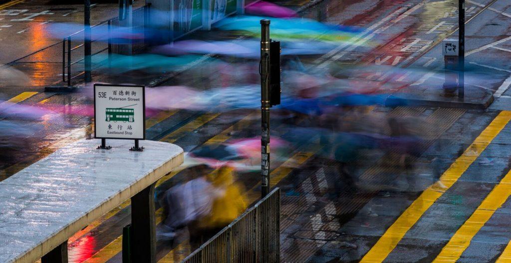 Tang King Ho rainy day Hong Kong