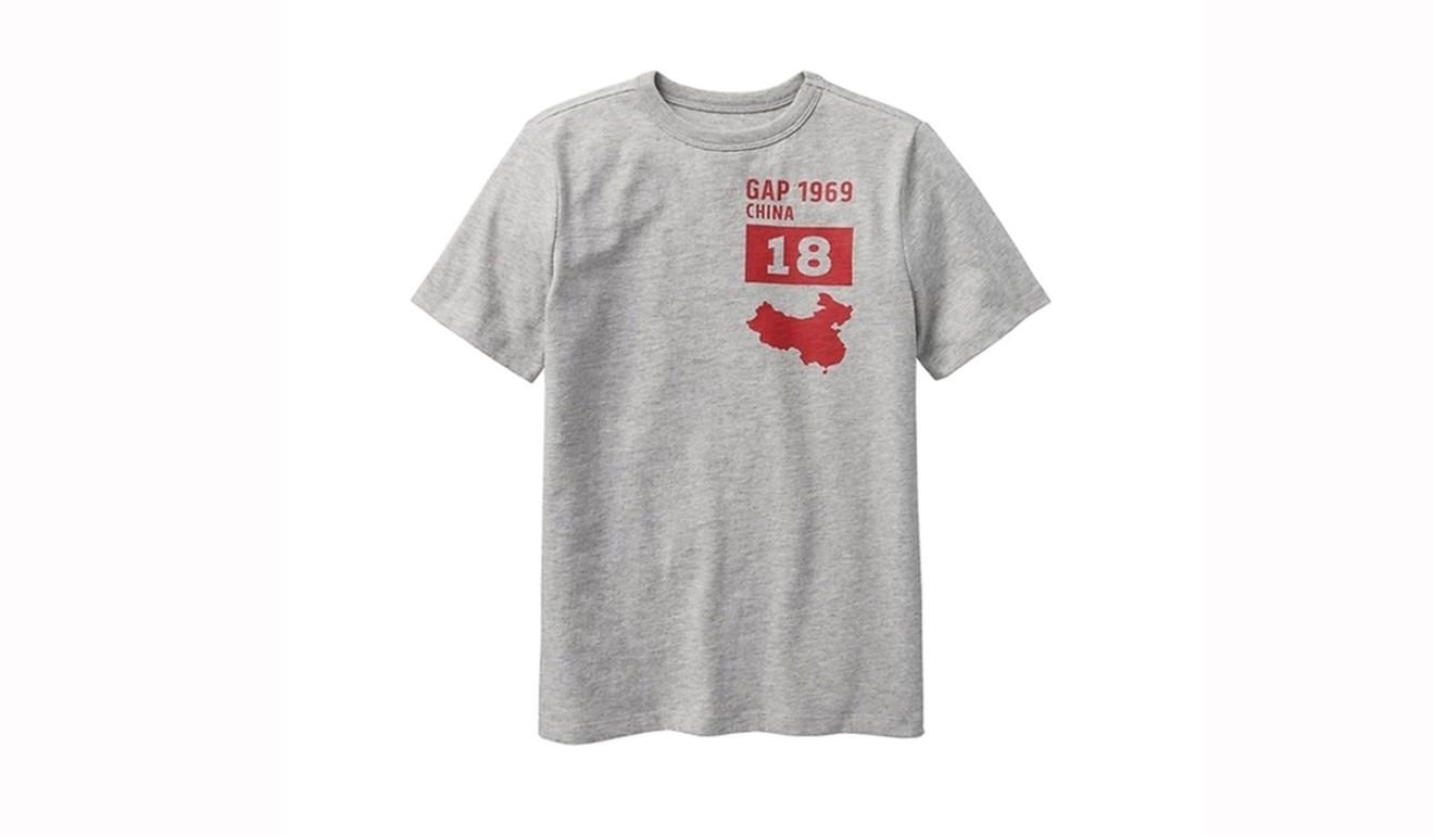 a549e188f6b1 Un T-Shirt de la marque Gap fait bondir les Chinois