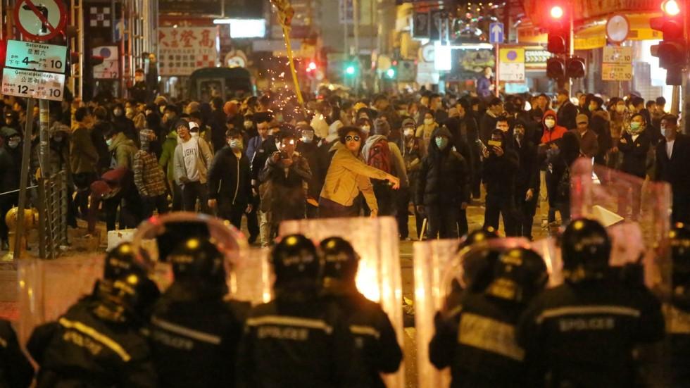 émeute Mongkok Hong kong