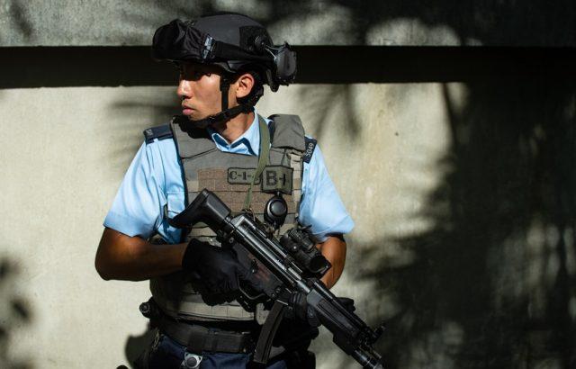 policier antiterroriste Hong Kong