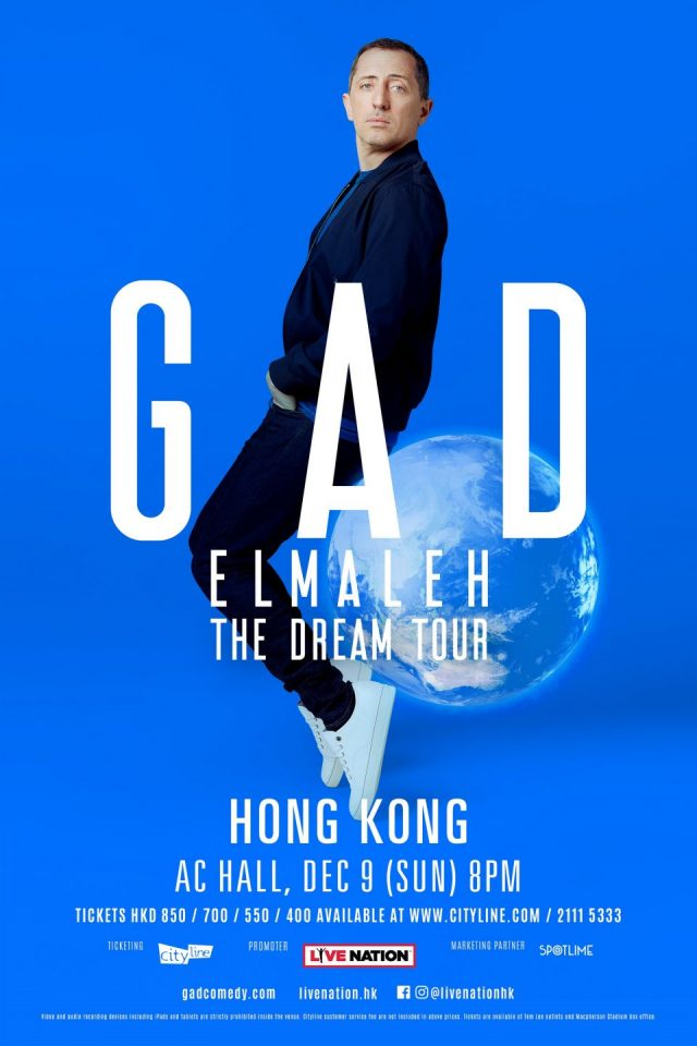 Gad Elmaleh The Dream Tour Hong Kong 2018