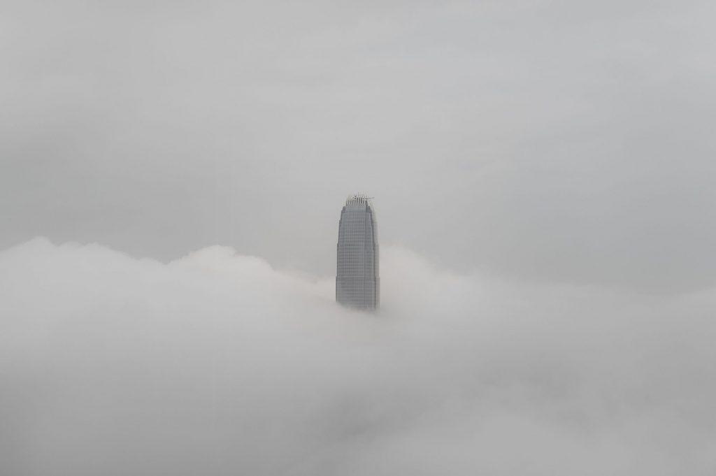 IFC Hong Kong brouillard