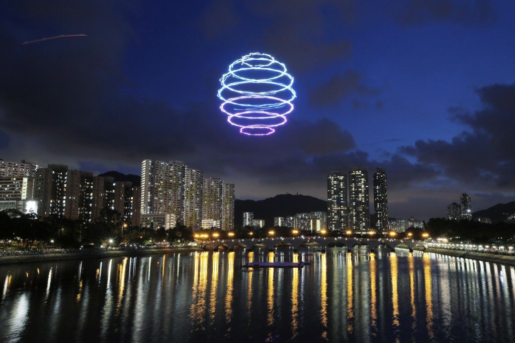 drones lumineux Sha Tin