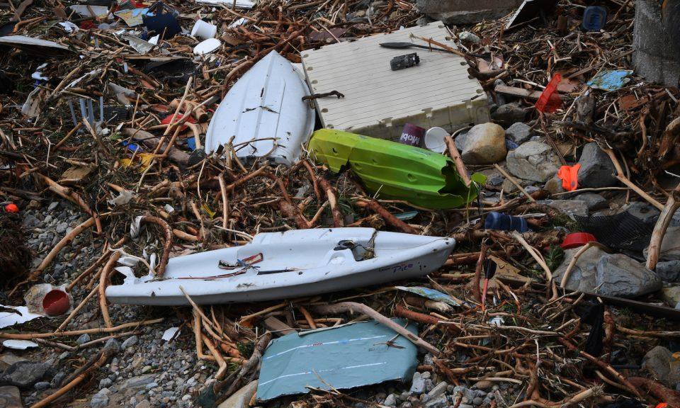 Deep Water Bay débris typhon Mangkhut