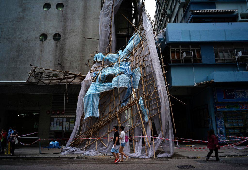 Echafaudages rue Hong Kong