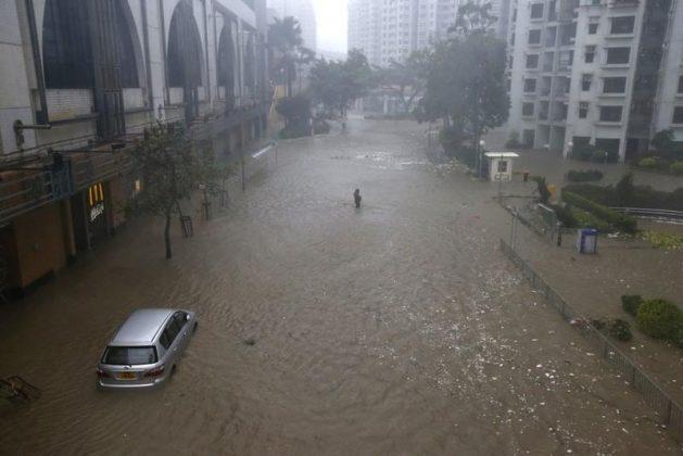 Inondation Heng Fa Chuen Mangkhut 2018