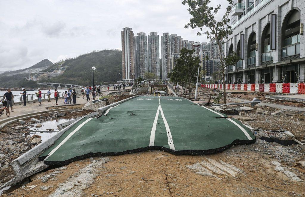Tseung Kwan O South Waterfront Promenade typhon