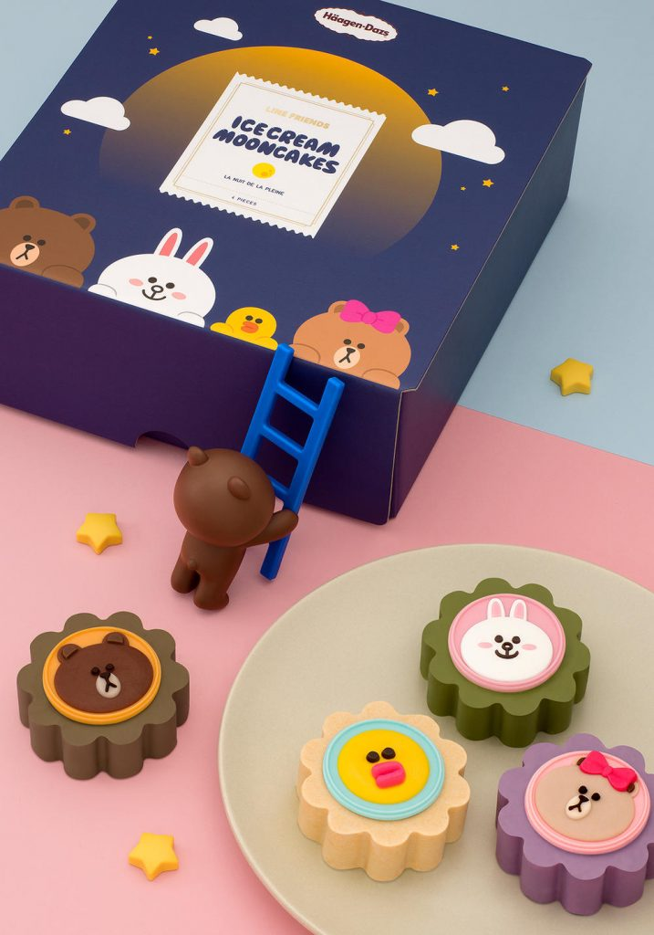 haagen dazs line friends mooncakes 2018