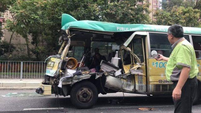 accident minibus Hong Kong