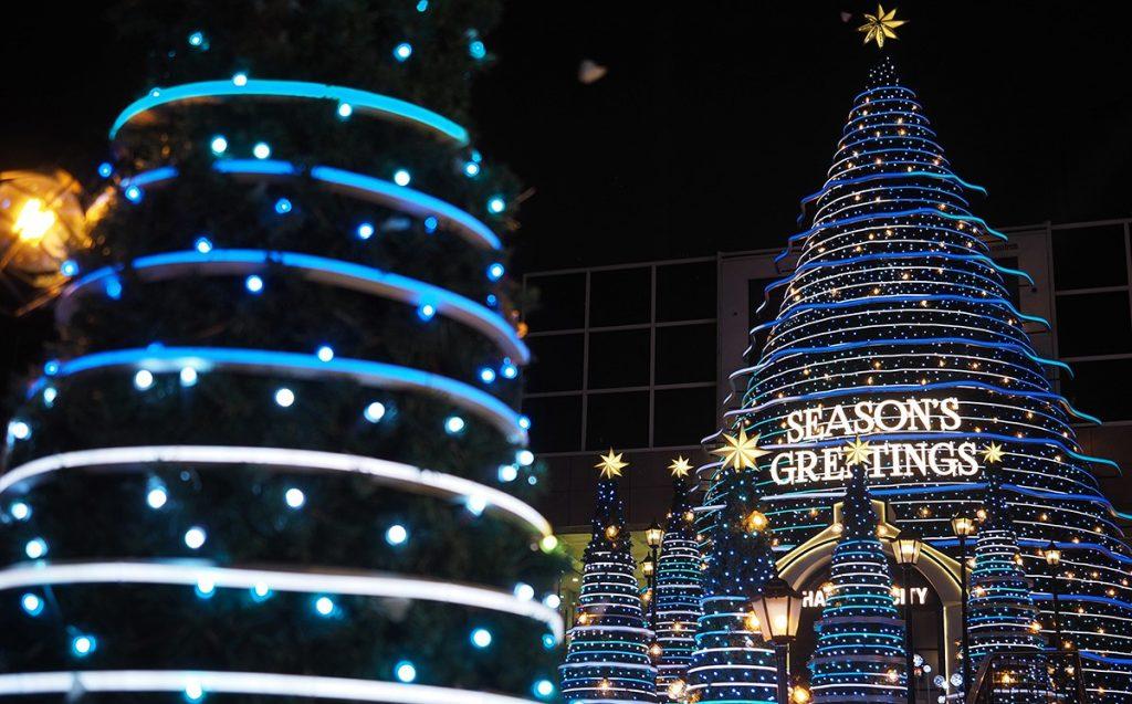 Harbour city Hong Kong décorations de Noël 2018
