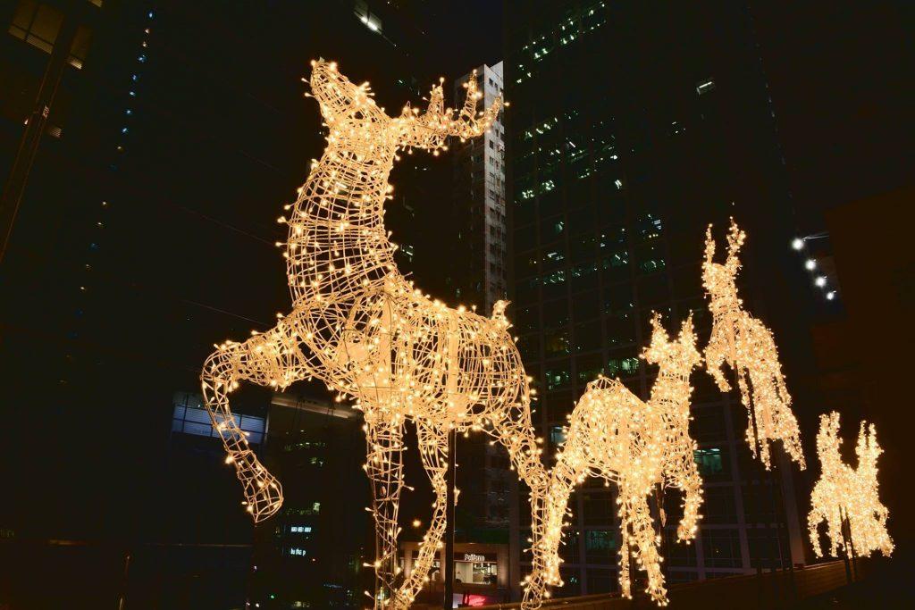 Star street Hong Kong decorations de Noël 2018
