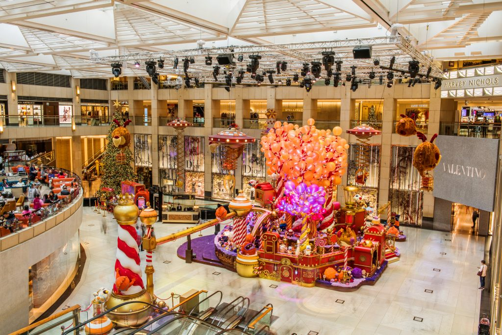 Landmark Hong Kong decorations de Noël 2018