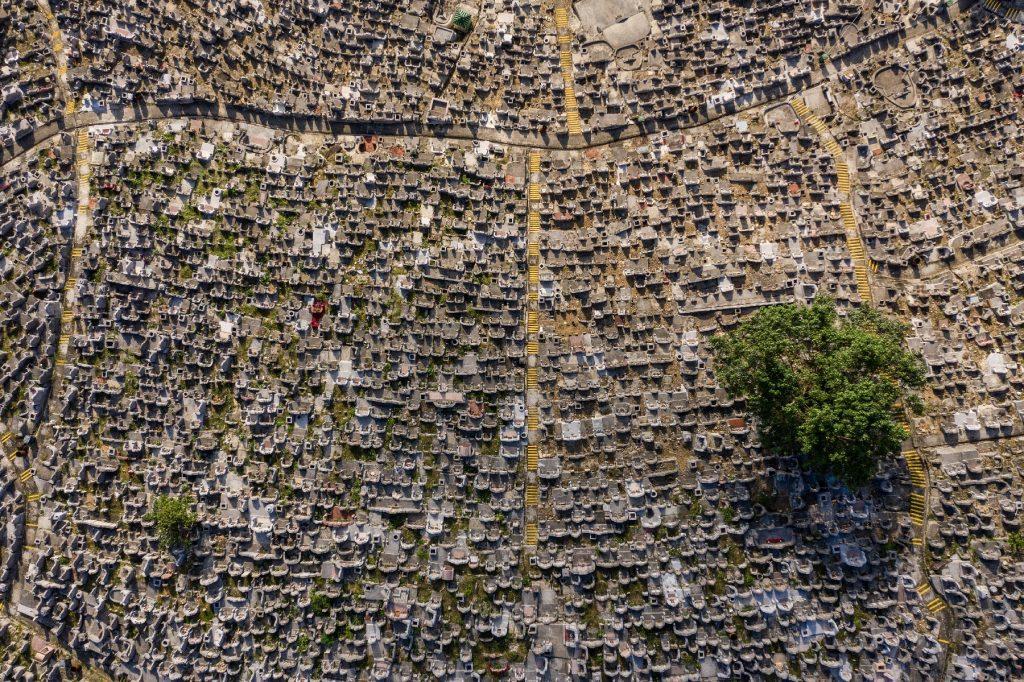Cimetière de Hong Kong vu du ciel