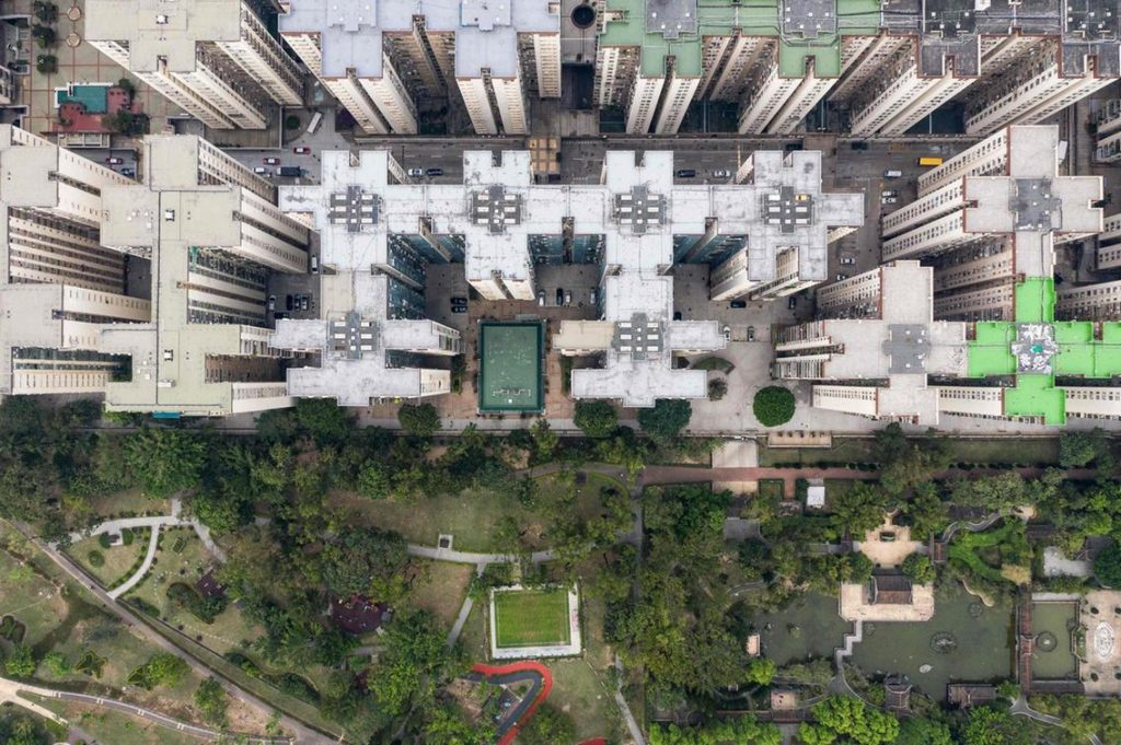 HLM hongkongais vus de haut