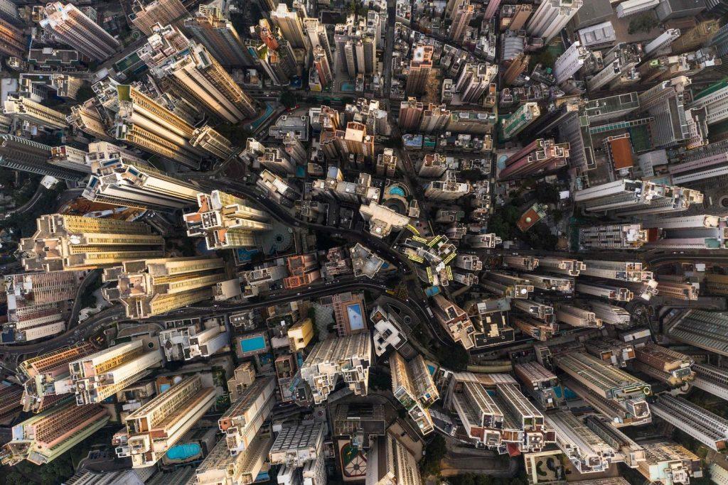 L'ultra densité urbaine de Hong Kong par Dale de la Rey