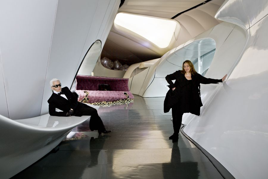 Karl Lagerfeld Zaha Hadid Chanel Mobile Art exhibition Hong Kon