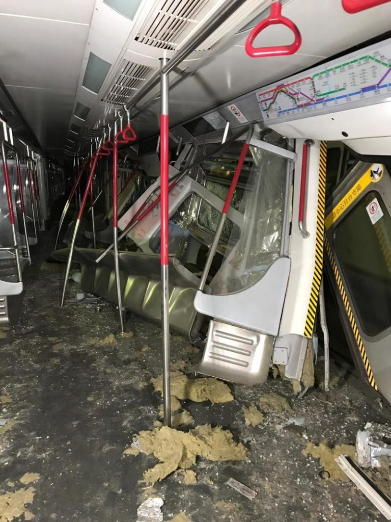 Accident train Central Hong Kong