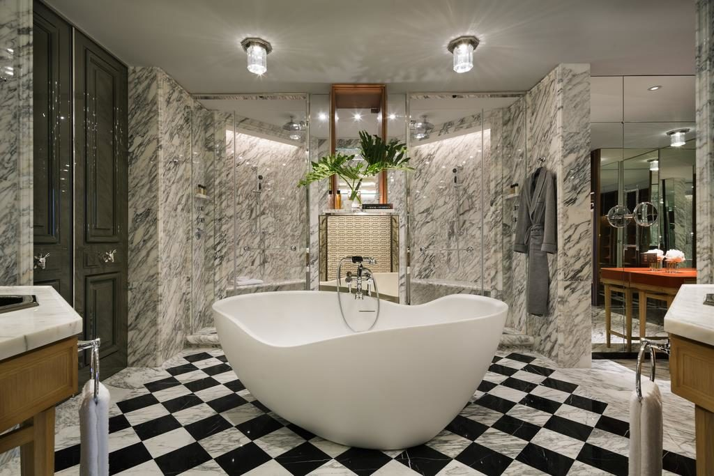 Rosewood hong kong salle de bain Suite Manor