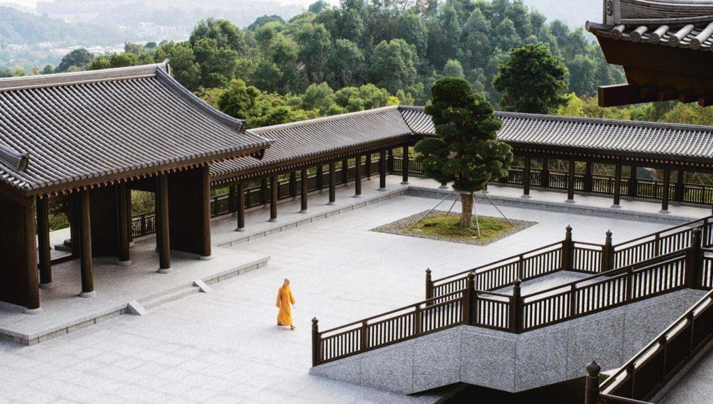 Moine monastère Tsz Shan