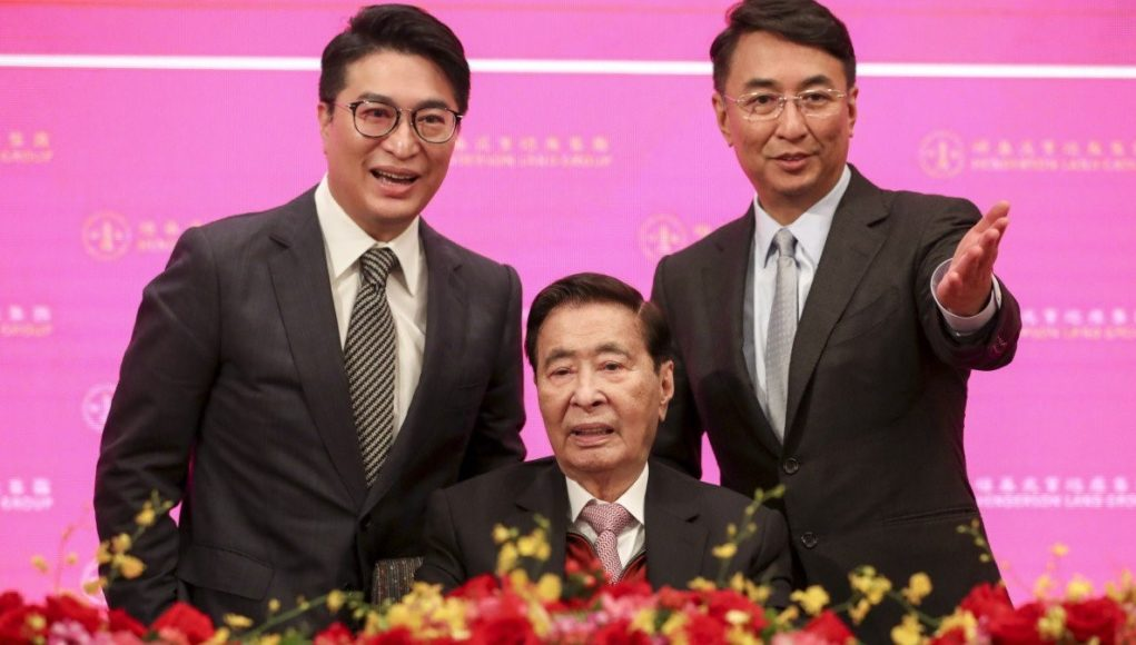 Martin Lee Ka-shing, Lee Shau-kee et Peter Lee Ka-ki