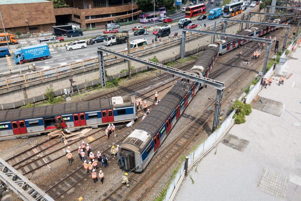déraillement d'un métro Hong Kong Hung Hom