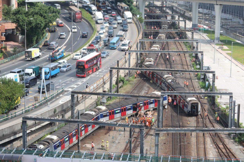 deraillement metro Hung Hom