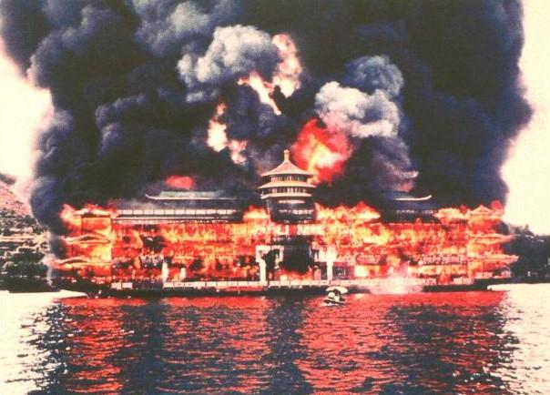 Jumbo restaurant incendie
