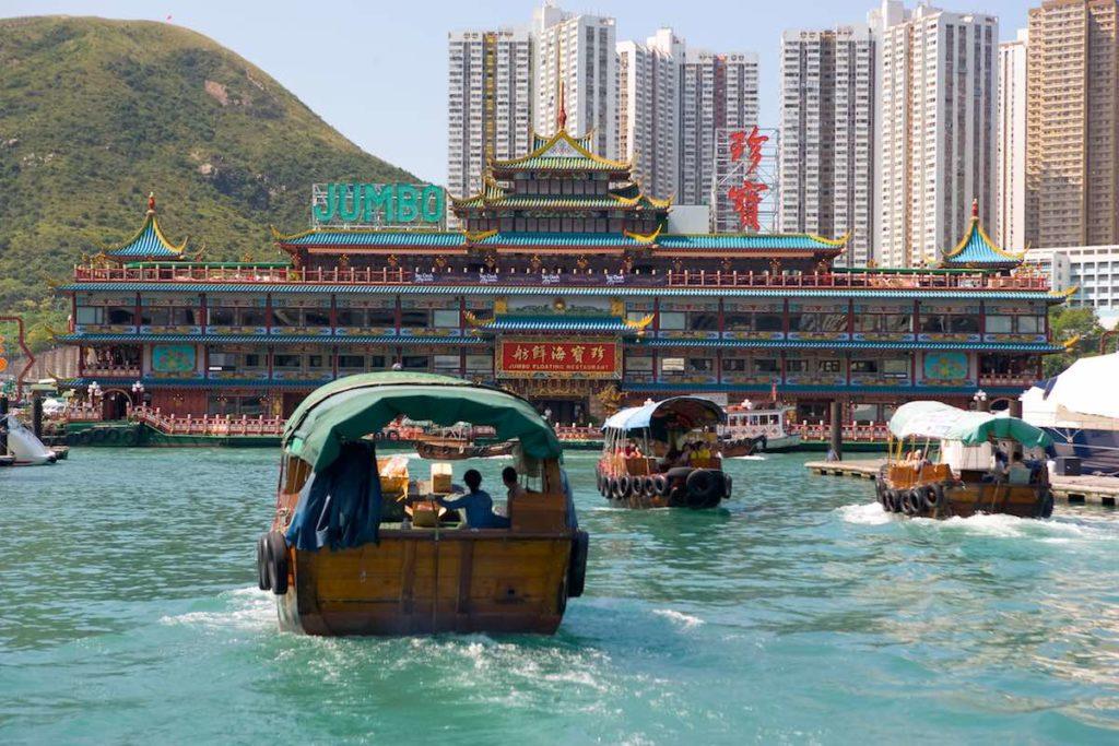 sampans Hong Kong